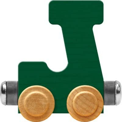 Maple Landmark NameTrain Bright Letter Car J - Made in USA (Green)