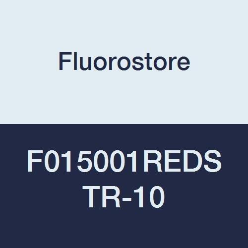 Fluorostore F015001REDSTR-10 PTFE Striped Tubing, 3/16