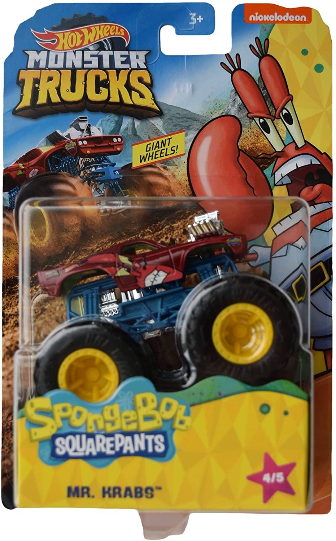 Hot Wheels Monster Trucks Spongebob Squarepants Mr Krabs 4/5