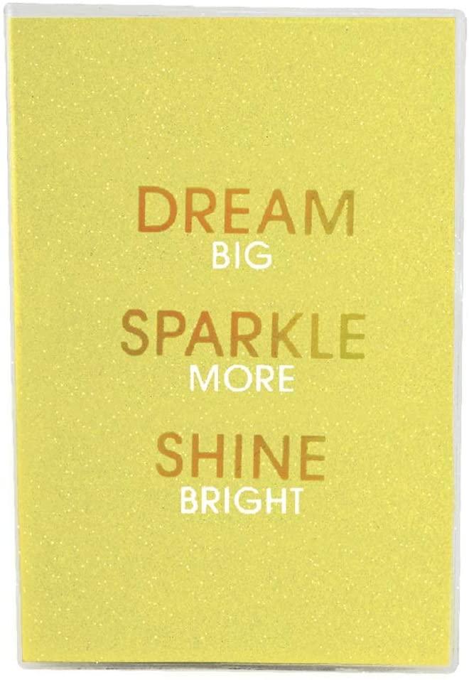 iscream 'Dream Sparkle Shine' Metallic Glitter Cover Book-Bound Lined-Page 8.5