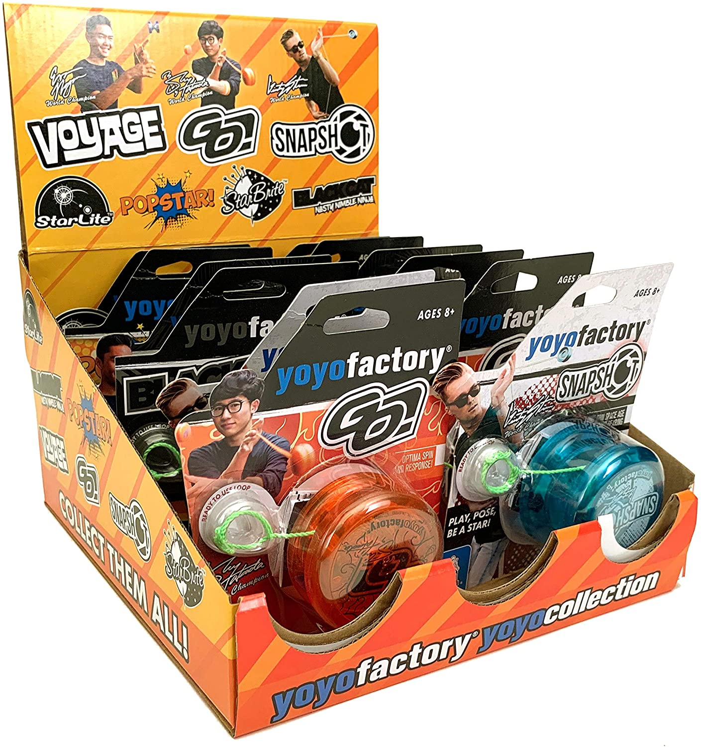 YoYoFactory SPINSTAR Collection with Counter Top Display