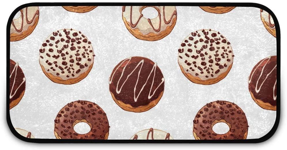 Rectangle Shaggy Rug Floor Mat for Kids Donuts Toppings Front Door Anti-Slip Rug Rectangle Carpet Play Mat