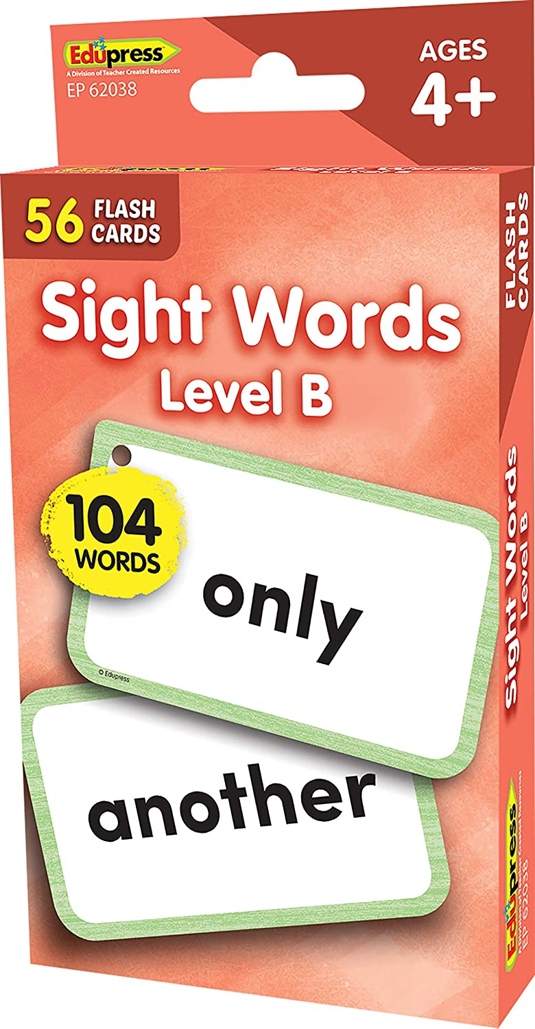 Teacher Created Resources Sight Words Flash Cards - Level B (EP62038)