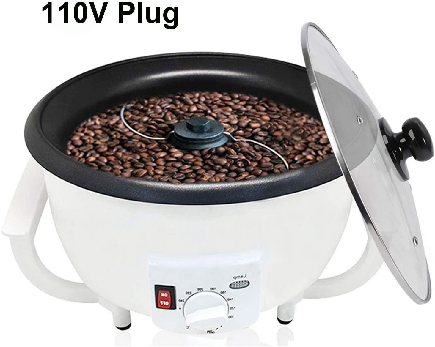 Coffee Bean Roaster Machine, Coffee Roaster Machine for Home Use 110V Electric Household Peanut Nuts Coffee Roasting Machine