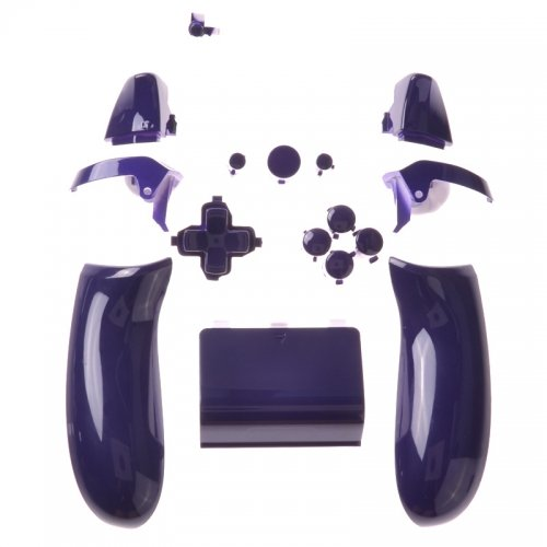 Xbox One Button Set - Polished Purple Left/Right Back Panel + Battery Pack + D-PAD + RT LT + RB LB + ABXY Guide + Start Back Sync