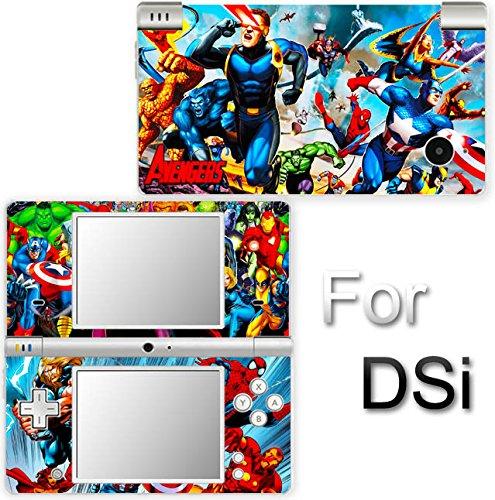 Iron Man Captain America Spider Man Avengers SKIN STICKER COVER for Nintendo DSi