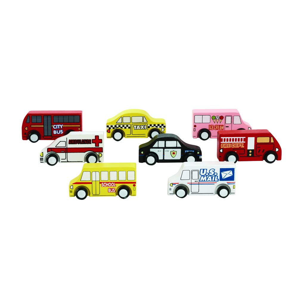 Excellerations Trucks Wooden Play Trucks (Pack of 8)