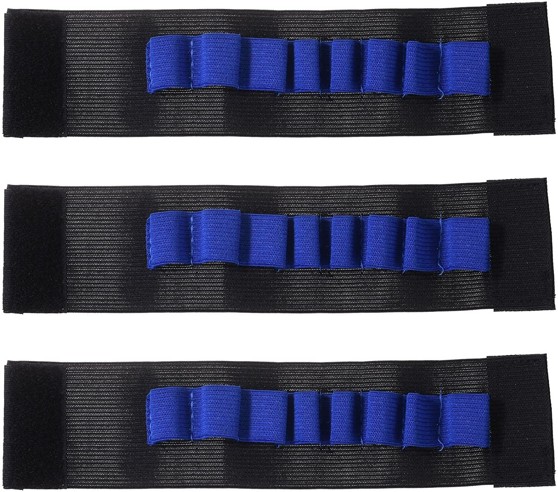 BCP 3 Pieces Toy Gun Accessories EVA Soft Bullets Gun Wrist Belt Band Strap Bandolier for Nerf N-Strike Elite Series Blasters