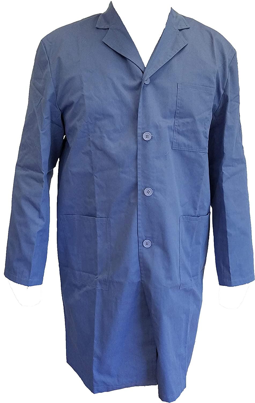 Lab Coat for RF Protection in Blue - EMF, RF Shielding Lab Coat (Large)