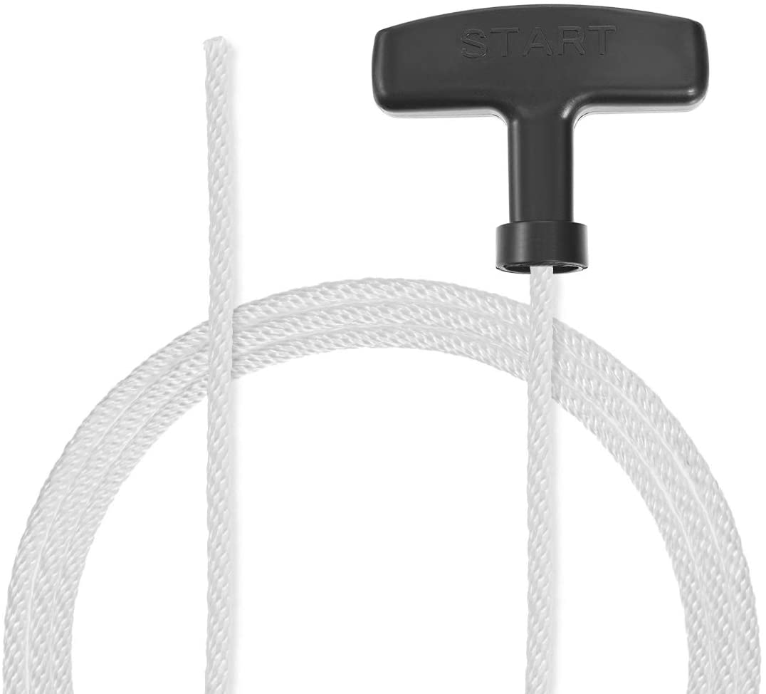 uxcell Recoil Starter Rope with Handle 3mm Dia 1.7m 5.5ft Polyester Pull Cord for 152F 154F Lawn Mower Trimmer Chainsaw Engine Part 5pcs