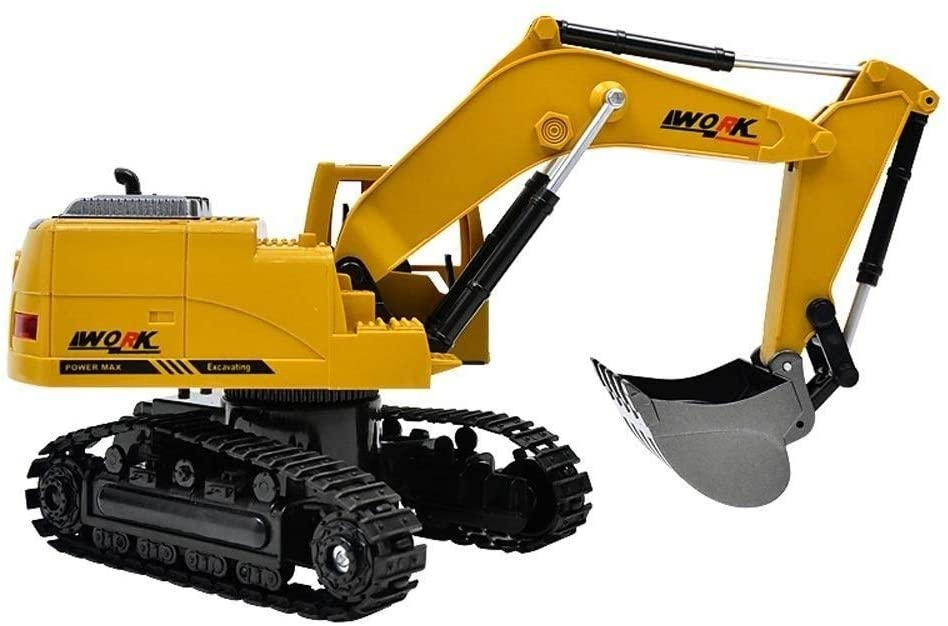 Xuess Educational Toys 8CH Simulation RC Excavator Toys RC Engineering Car Tractor Four-Wheel Driver Sturdy Radio-Controlled Quality Plastic Children's Gifts