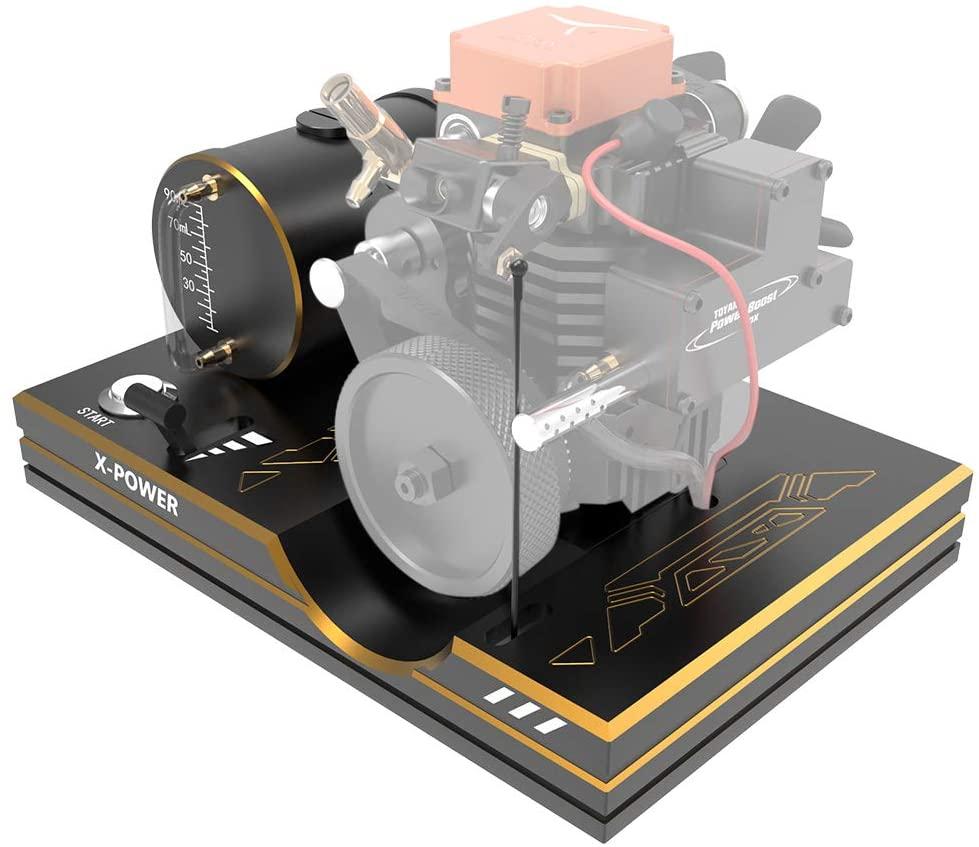 Yamix Toyan Engine Start Bracket Base with Throttle Push Rod, Throttle Lever, One Key Start Button, Battery Holder, Metal Tank for Toyan FS-S100, FS-S100G, FS-S100(W), FS-S100G(W)