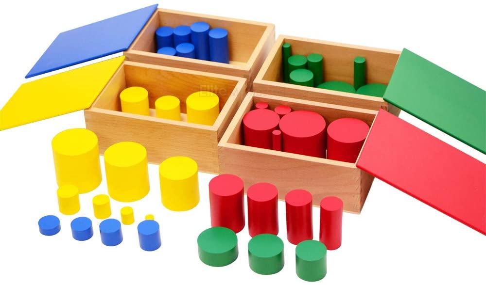 Elite Montessori Knobless Cylinders (Set of 4)
