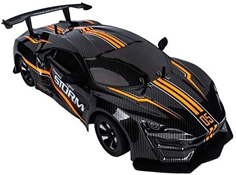 Xuess 360°Rotation Stunt Drift Racing Car Model Toy Electric RC Drift Car Toy Vehicle 1/10 Four-Wheels Drive 4WD Remote Control Rock Crawler Educational Toys (Color : Orange)