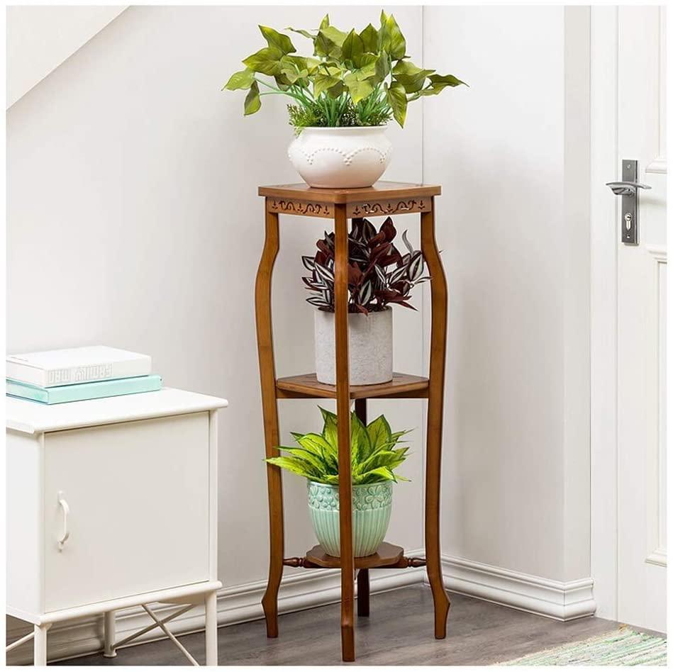 QNN Plant Stands,Pot Rack Flower Stand Solid Wood Simple Multi-Layer Flower Stand Balcony Fleshy Flower Frame Living Room Indoor Bonsai Frame Decorative Flower Pots,292997Cm