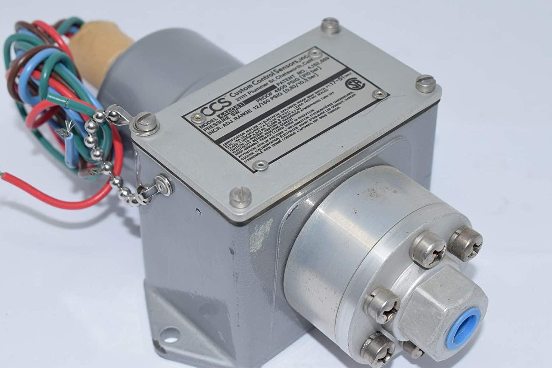 CUSTOM CONTROL SENSORS 646GE11 Pressure Switch 1/4IN 12-150PSI 125/250/480V-AC