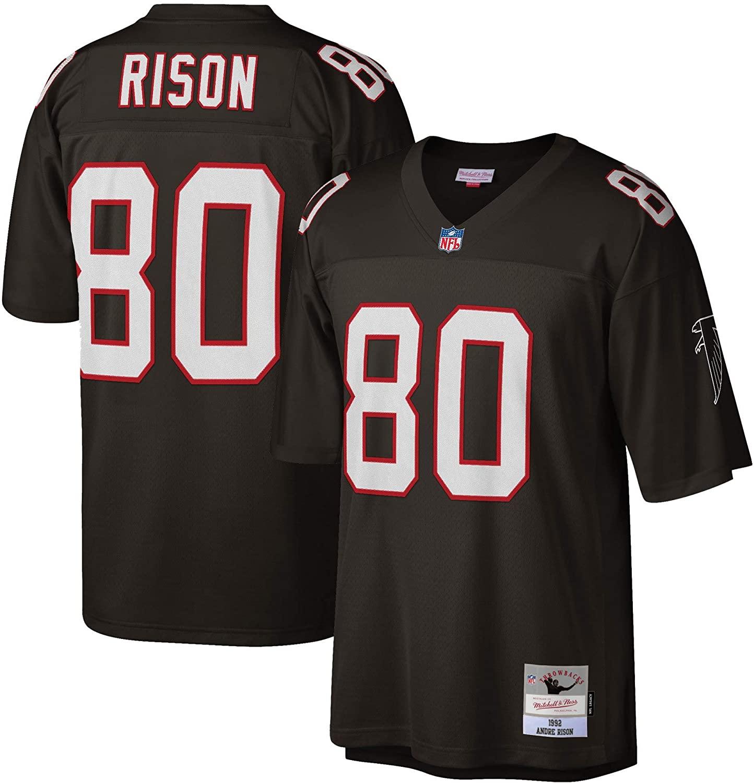 Mitchell & Ness Atlanta Falcons 1992 Andre Rison #80 Replica Throwback Jersey - Black