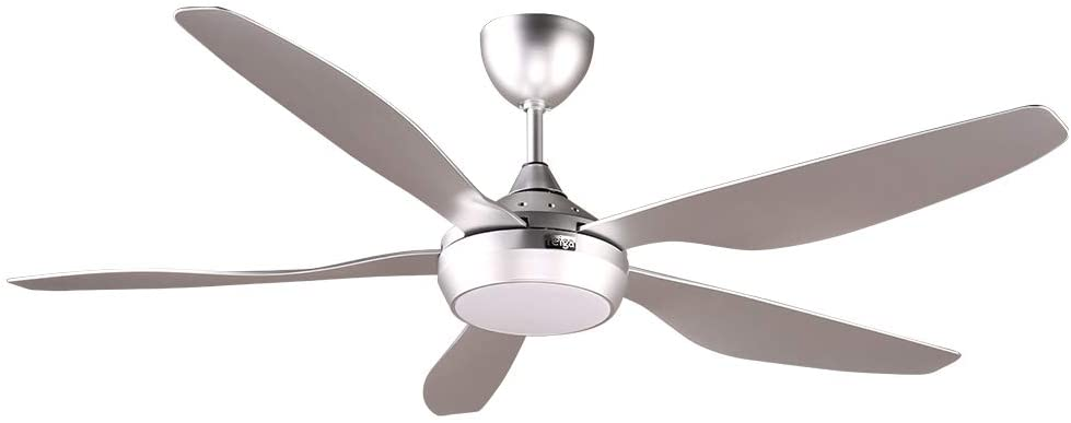 reiga 54 DC Motor Modern Ceiling Fan with Dimmable LED Light Kit Remote Control, 6 Speeds
