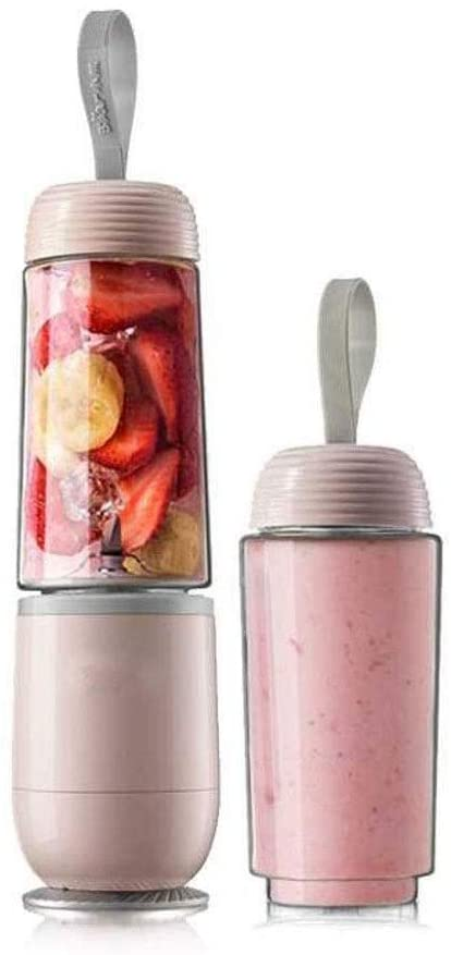 Juice Cup Portable Glass Smoothie Blender Personal Blender Juicer Cup Single Serve Fruit Mixer Multifunctional Small Travel Blender for Shakes and Smoothies