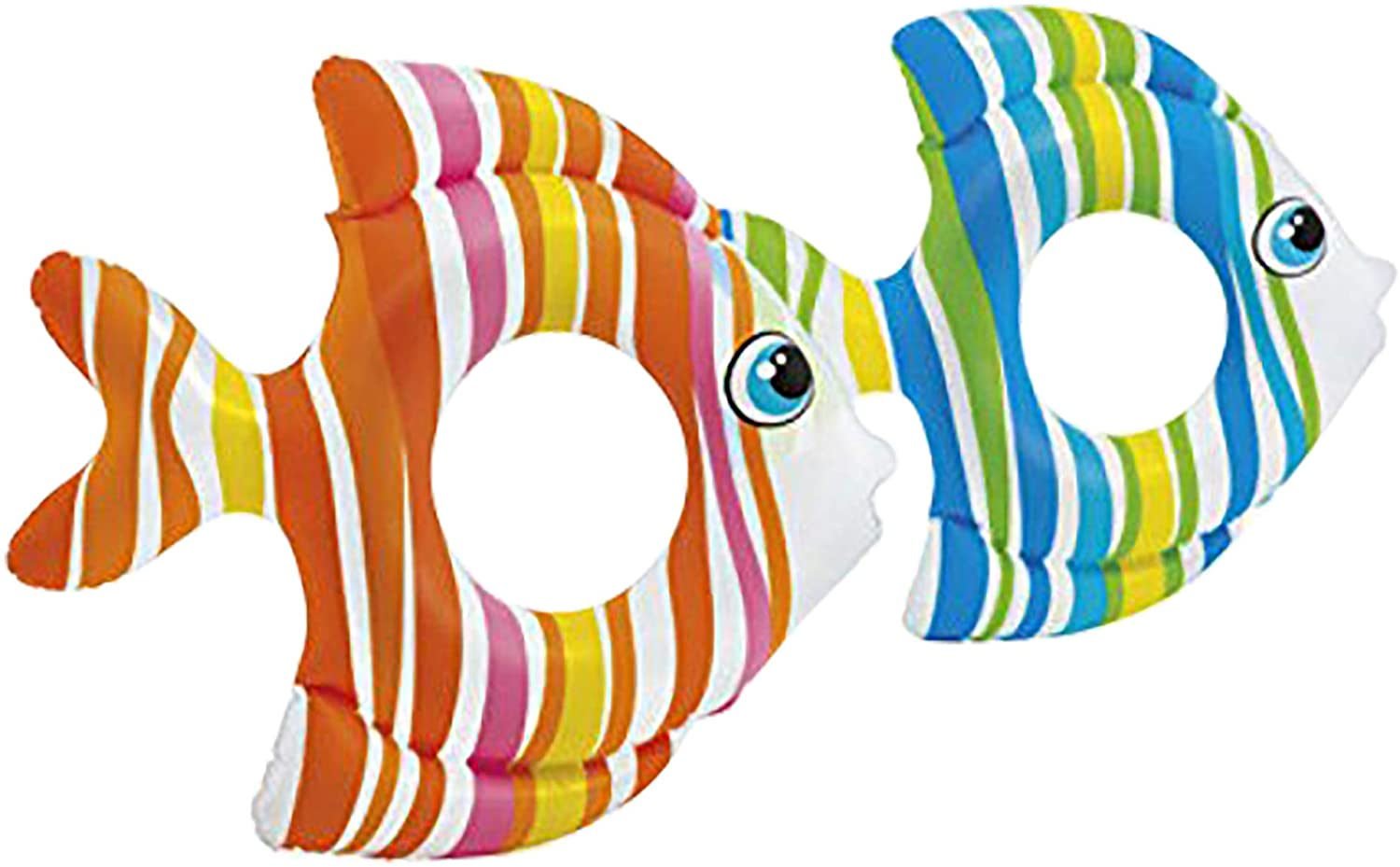 Intex Tropical Fish Inflatable Swim Ring, Colors May Vary, 2 pack