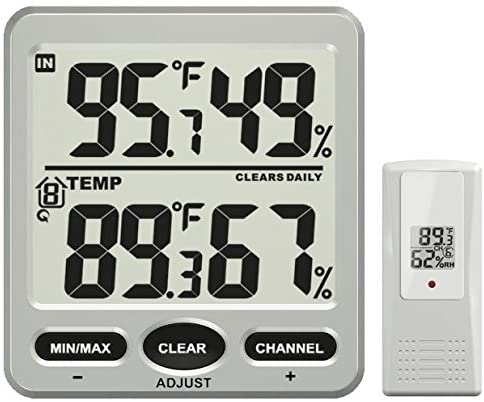 Ambient Weather WS-70 Big Digit 8-Channel Wireless Thermo-Hygrometer