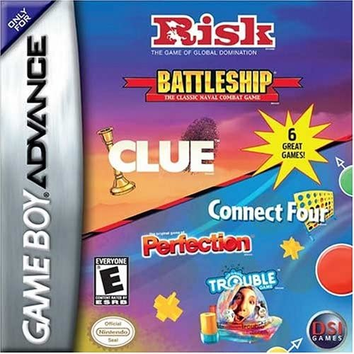 GBA Connect 4/Trouble/Perfection/Risk/Battleship/Clue