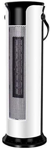 GUOHUI Handheld Mini Fan Household Shaking Head Vertical Tower Fan Radiator Warmer Electric Heater Warm Air Blower, Manual Version (Color : White)