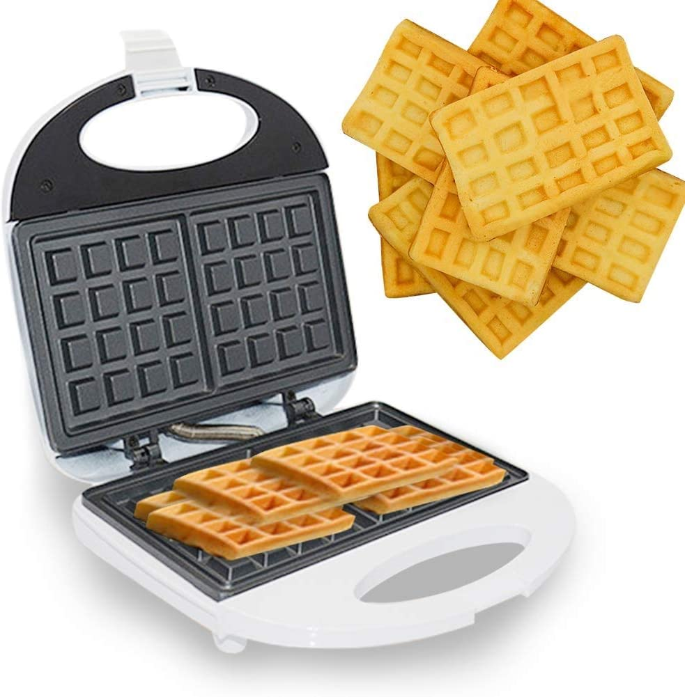 CHENJIU Sandwich Maker Machine for Individual Waffles, Paninis, Sandwich,Hash browns, other on the go Breakfast, Lunch, or Snacks