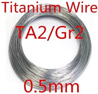 Ochoos 10meters 0.5mm Pure Ta2/Gr2 Titanium Wire, Industry Experiment DIY Titanium Wire