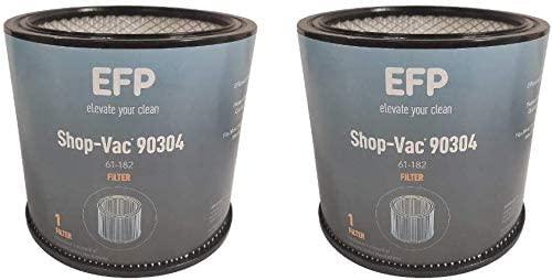 EFP Replacement Shop Vac Filter 90304, 9030400 Wet/Dry Vacuum Cartridge Filter - 2-PACK