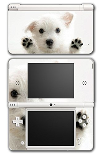 Dog Puppy Cute West Highland Terrier White Video Game Vinyl Decal Skin Sticker Cover for Nintendo DSi XL System