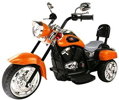 migotoys Trike Motorcycle Powered Ride on Motorcycle for Kids, 1- 3 Year Old -Orange
