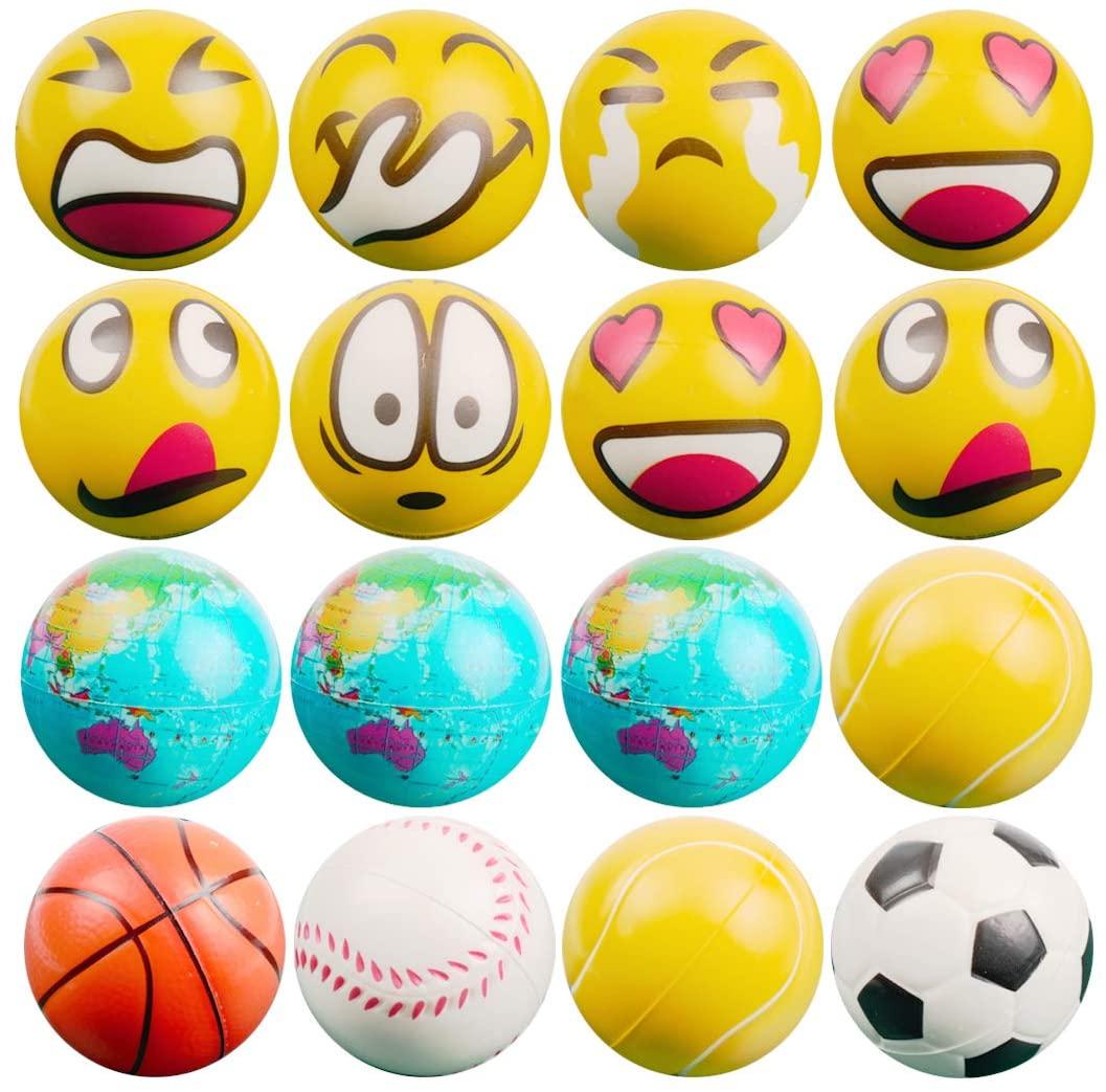 Umikk 16 Stress Balls - Bulk Stress Relief Toys Assortment - 2.5