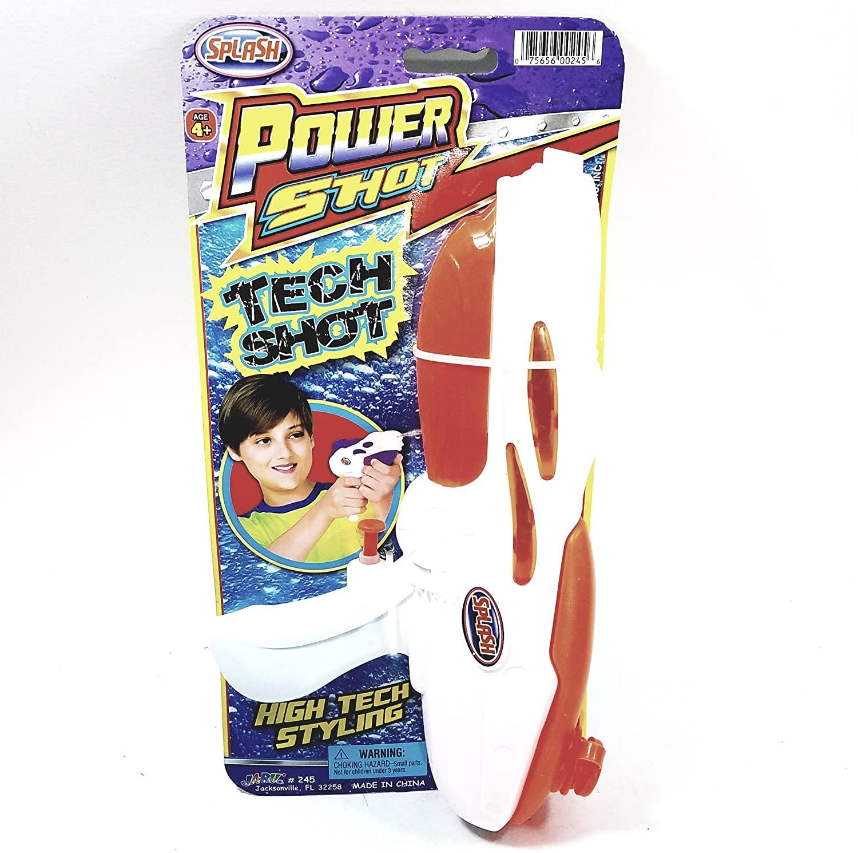 SPLASH Fun Power Shot Tech Shot Water Blaster/Gun Backyard/Pool/Bath Tub Toy