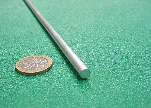 Metric 6061-T6 Aluminum Round Rod, 6 mm Diameter x 3 Ft. Length, 10 Pcs.