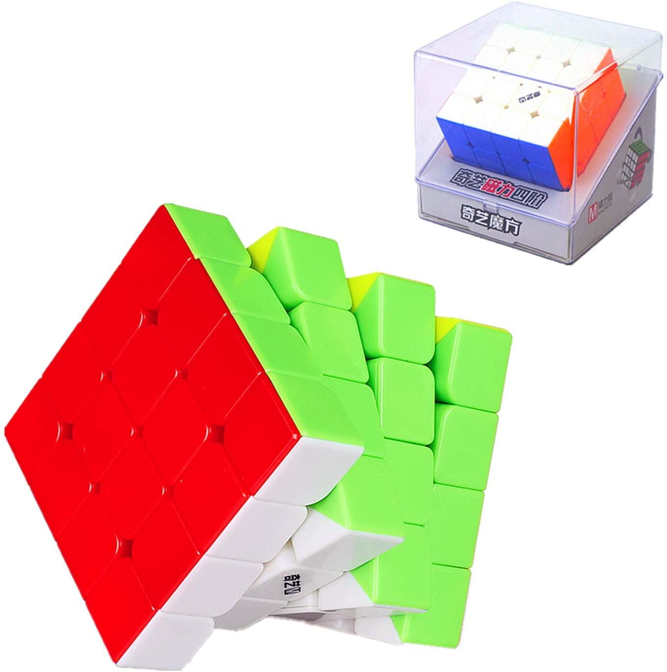 LiangCuber QiYi MS Series 4x4 Magnetic Speed Cube Stickerless Qiyi 4x4x4 m Speedcube Puzzle(2020 Newest Version)