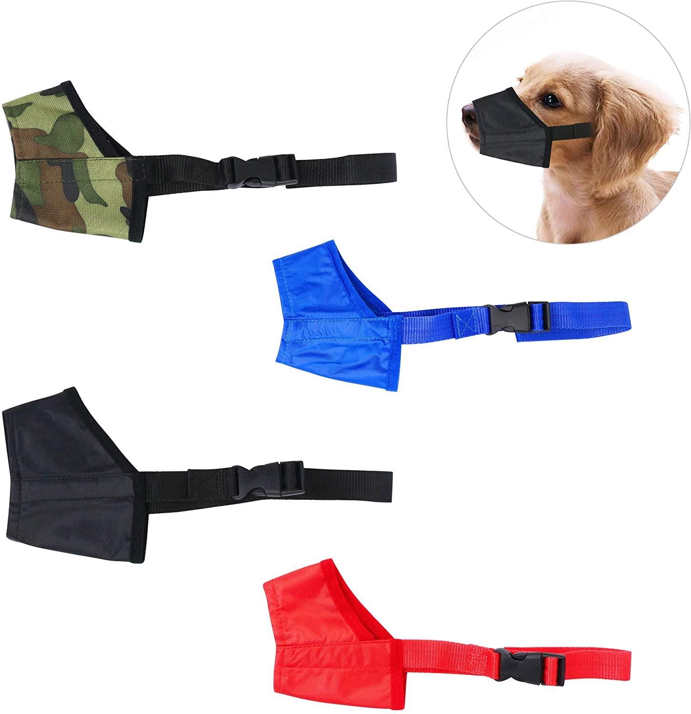 YAODHAOD Dog Muzzles Suit, Four-Color Adjustable Breathable Small Medium Large Extra Dog Muzzles for Anti-Biting Anti-Barking (4 PCS)