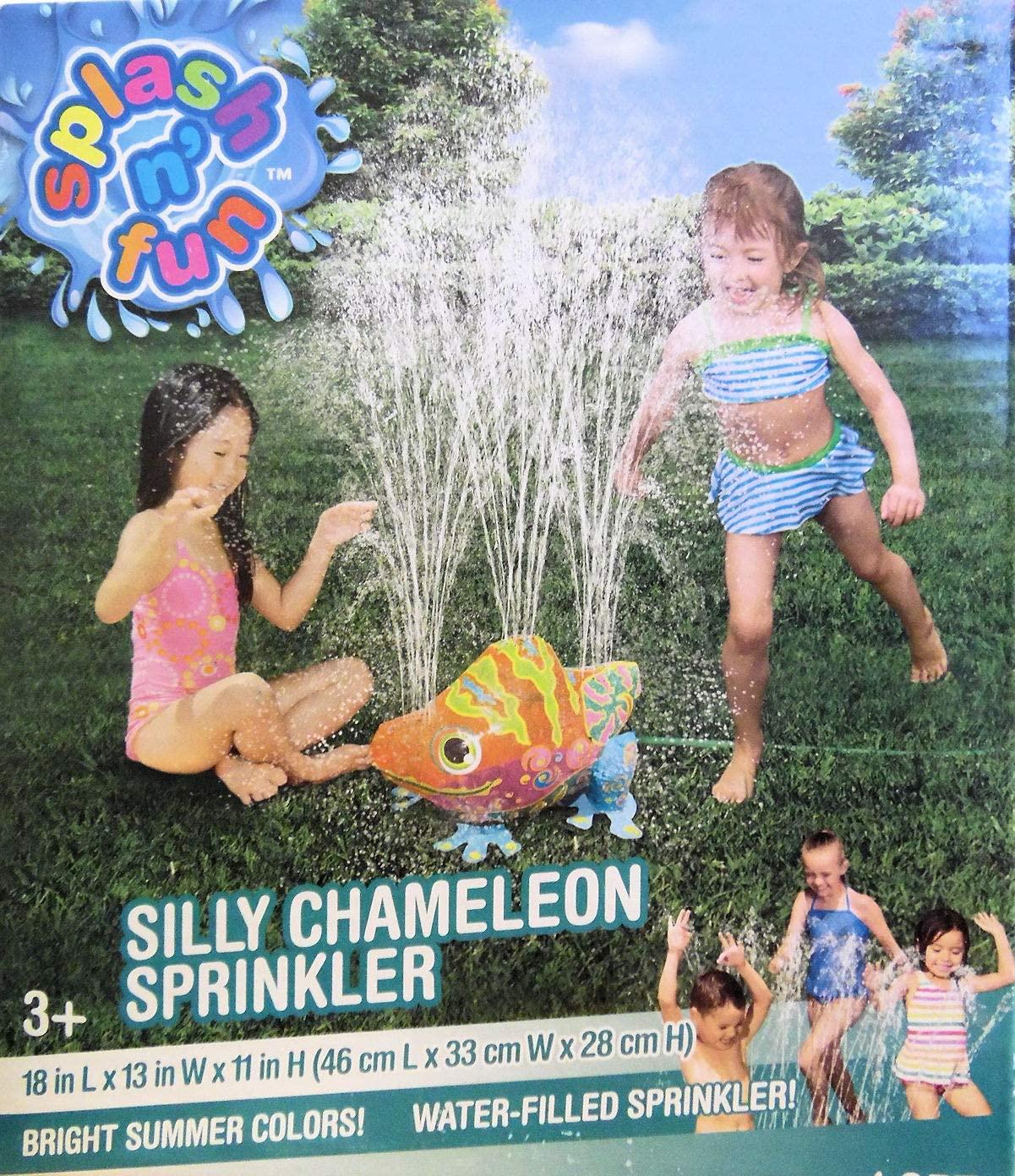 Silly Chameleon Yard Sprinkler Summer Water Fun