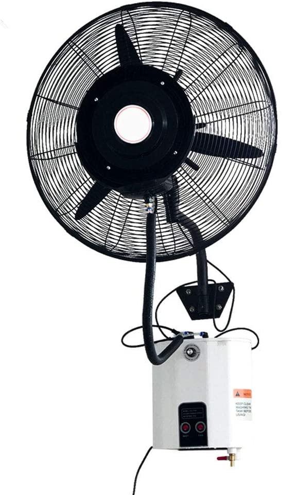 KMMK Home Electric Fan,Industrial Pedestal Fan Wall Mounted Fan, Oscillating Misting Cooling Fan Humidifying Quiet, Ideal for Industrial Home and Office, 3 Speed/12L/260W, White Heavy Duty,750Cm
