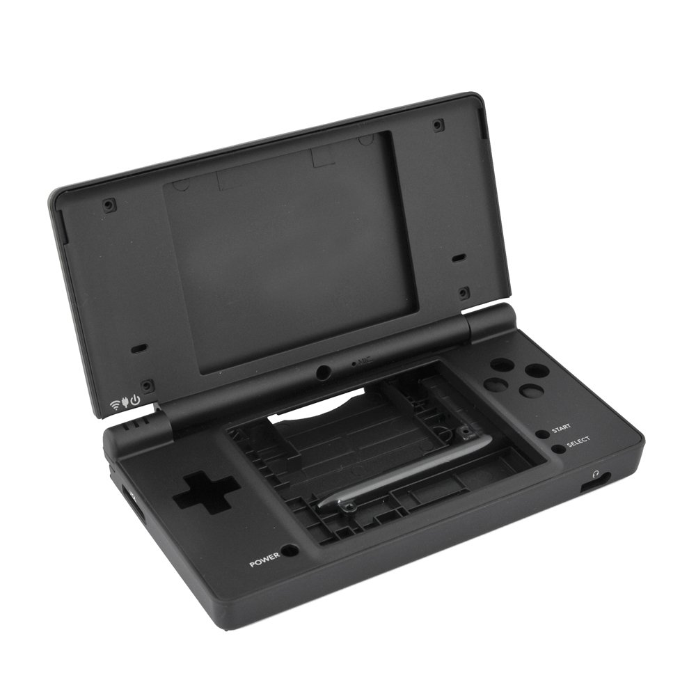 Ebest - Black Nintendo NDSI DSI NDS DSI Complete Full Housing Shell Case Replacement Repair Fix