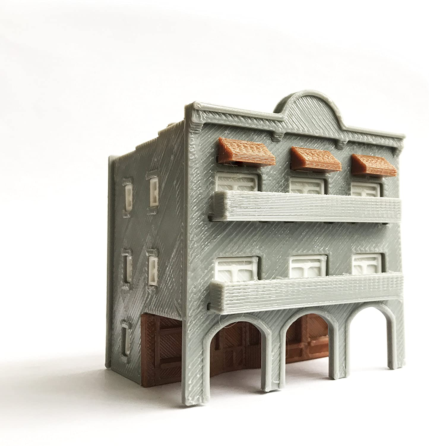 Outland Models Train Layout City Classic 3-Story Arcade Building N Scale 1:160