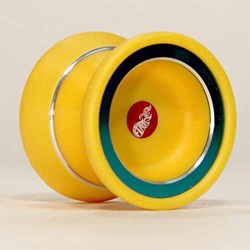 Zeekio yoyo Flare Ultra - Delrin Plastic and Aluminum Yo-Yo (Yellow/Green)
