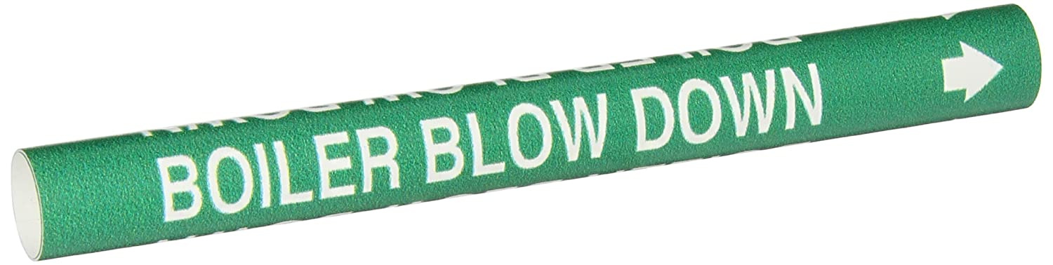 Brady 4298-A White on Green, Snap-On Pipe Marker, Legend