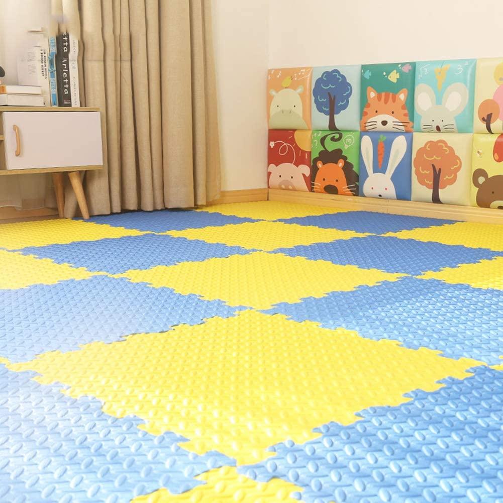 HOMRanger Solid Puzzle Interlocking Carpet,pe Padding Soft Floor Tiles Play Mat for Hard Tiles Bedroom Living Room Exercise Play B 60601.2cm(9 Pack)