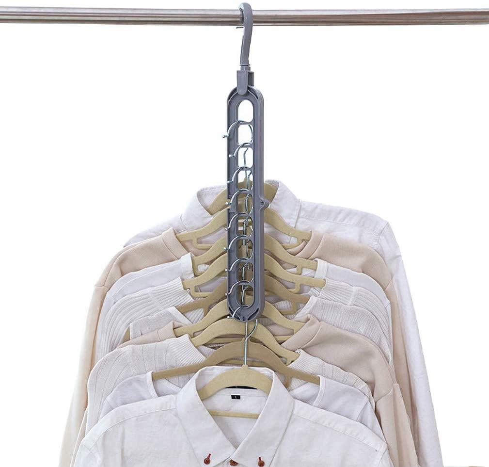 Dearlamp [2 Pack] Plastic Scarf Clothes Hangers, Storage Racks Random Color