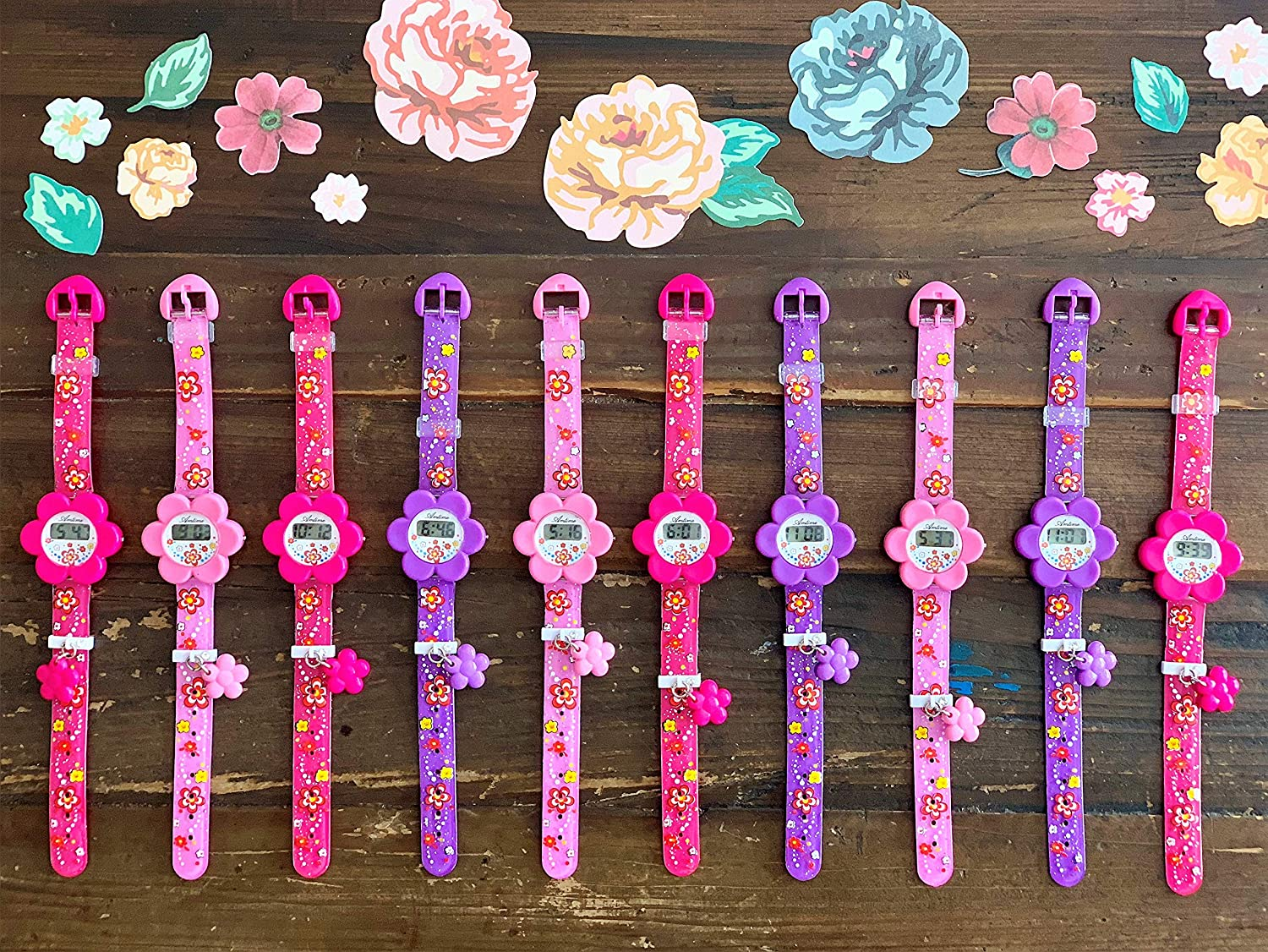 Party Favor for Kids! 10 Watches for Kids in Different Assortment for Boys and Girls. Great Bulk Price. Fun Party Favors for Little and Big Kids. The ONLY Kids Party Favor You Need! (10 Pack)