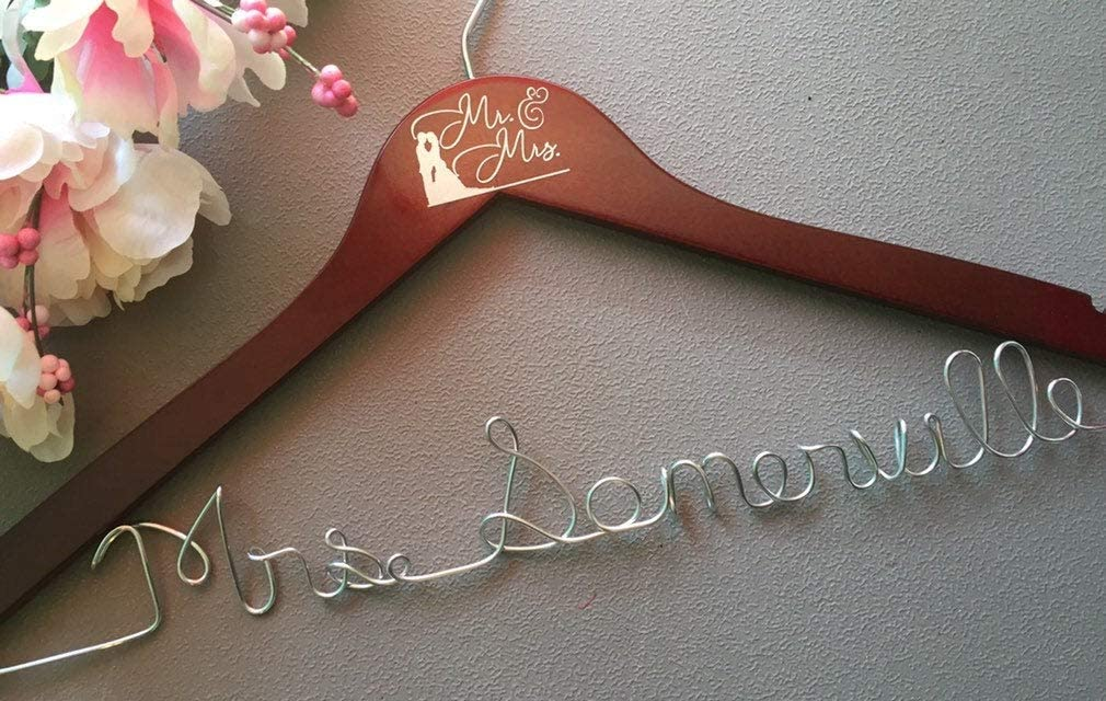 Flowershave357 Personalized Bridal Hanger Bride Wedding Hanger Wedding Dress Hanger Bridal Gown Hanger she Will Love it