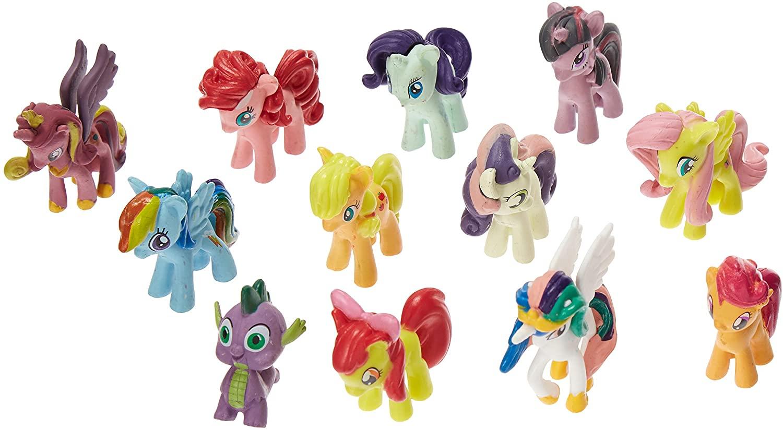 OliaDesign Set of 12 Pony PVC Toy Cake Topper Twilight Sparkle Figure Set