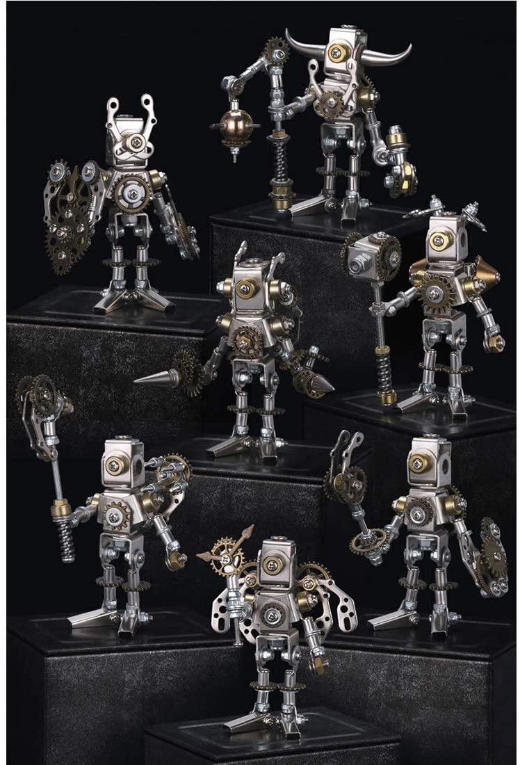 7Set DIY Metal 3D Puzzle Model Kit, Mechanical Saints Blind Box- Assembly Version