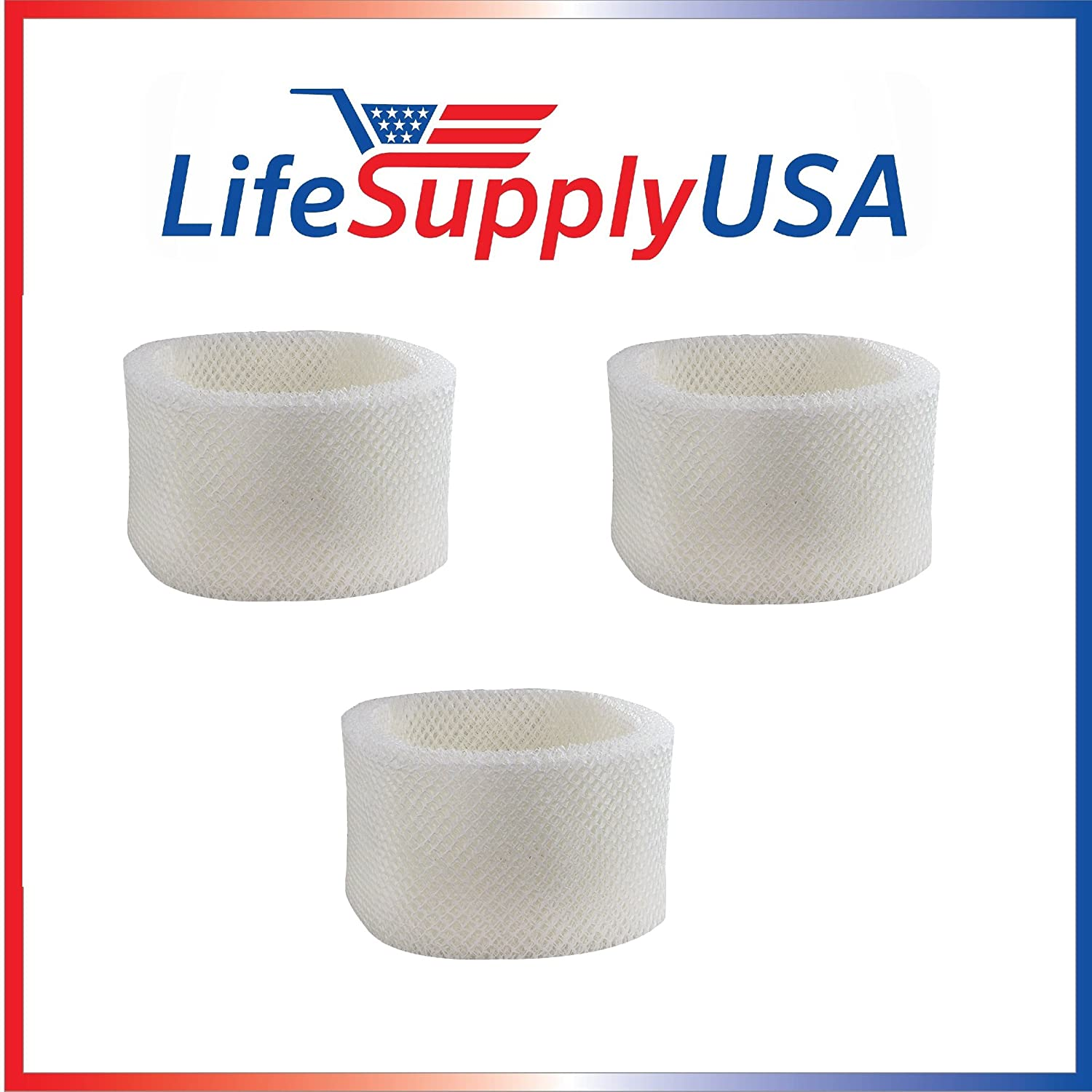 LifeSupplyUSA 3 Pack Humidifier Filter B Compatible with Holmes HWF64, HM1645, HM1730, HM1745, HM1746, HM1750, HM2220 & HM2200, Compatible with Sunbeam SCM1745 & SCM1746 Bionaire
